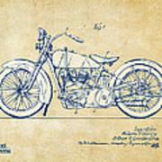 Vintage Harley-davidson Motorcycle 1928 Patent Artwork Art Print