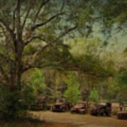 Vintage Harvey Trucks In Northwest Florida Art Print