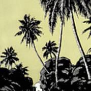 Vintage Hawaii Palms Art Print