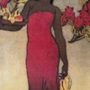 Vintage Hawaiian Woman Art Print