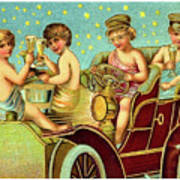 Vintage Holiday Postcard Art Print