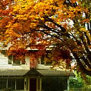 Vintage Home In Autumn Art Print