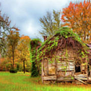 Vintage House Surrounded By Autumn Beauty Ap Art Print