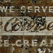 Vintage Ice Cream Mural  Art Print