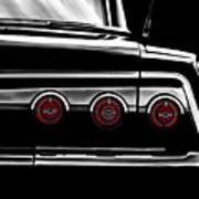 Vintage Impala Black And White Art Print