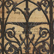 Vintage Iron Scroll Gate 1 Art Print