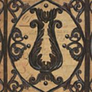Vintage Iron Scroll Gate 2 Print by Debbie DeWitt