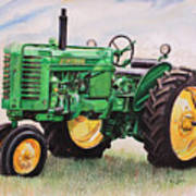 Vintage John Deere Tractor Art Print