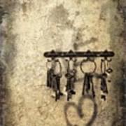 Vintage Keys Art Print