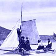 Vintage Ladies And Gentlemen Sail On The Desert Queen Art Print