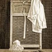 Vintage Laundry Room Art Print by Edward Fielding