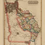 Antique Map Of Georgia Art Print