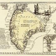 Vintage Map Of Greenland - 1791 Art Print
