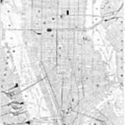 Vintage Map Of New York City - 1911 Art Print