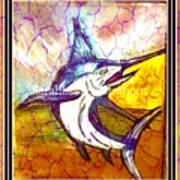 Vintage Marlin Art Print