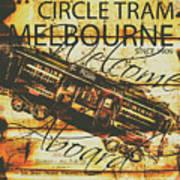 Vintage Melbourne Tram Tin Sign Art Print