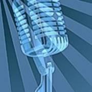 Vintage Microphone Pop Art Art Print