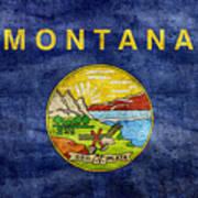 Vintage Montana Flag Art Print