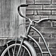 Vintage Montgomery Ward Bicycle 6 - B/w Art Print