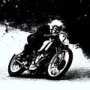 Vintage Motorcycle Racer Art Print