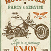 Vintage Motorcycling Mancave-c Art Print