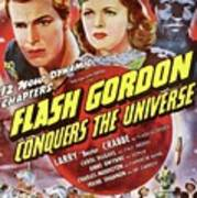 Vintage Movie Posters, Flash Godon Conquers The Universe Art Print