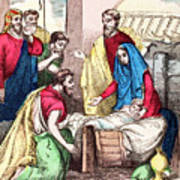 Vintage Nativity Scene Art Print