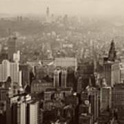Vintage New York City Panorama Art Print