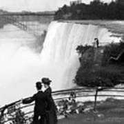 Vintage Niagara Falls - View From Goat Island - 1908 Art Print