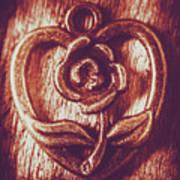 Vintage Ornamental Rose Art Print