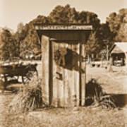 Vintage Outhouse  Art Print