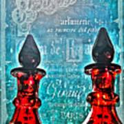 Vintage Paris Perfume Art Print