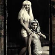 Vintage Party Girls Art Print