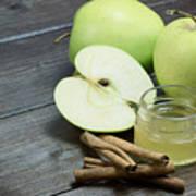 Vintage Photo Of Green Apples Art Print