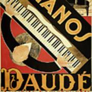 Vintage Piano Art Deco Art Print