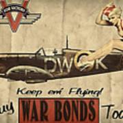 Vintage Pinup Warbond Ad Art Print