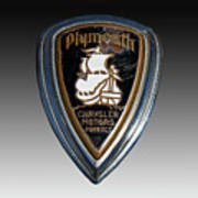 Vintage Plymouth Car Emblem Art Print