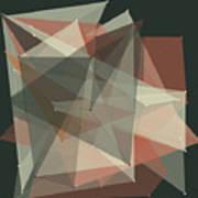 Vintage Polygon Pattern Art Print
