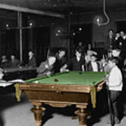 Vintage Pool Hall Art Print