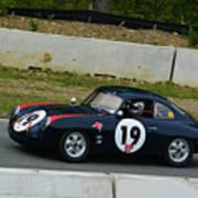 Vintage Porsche 19 Climbing Hill Art Print