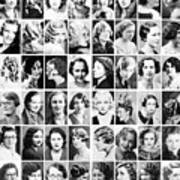 Vintage Portrait Photos Depict Womens Hairstyles Of The 1930s  - Doc Braham - All Rights Reserved. Art Print