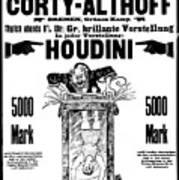 Vintage Poster Advertising A Performance By Houdini, 1922 Art Print