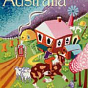 Vintage Poster - Australia Art Print