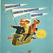 Vintage Poster - Bavarian Alps Art Print