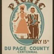 Vintage Poster Old Settlers Picnic Art Print