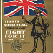 Vintage Poster - This Is Your Flag Art Print