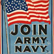 Vintage Recruitment Poster Art Print