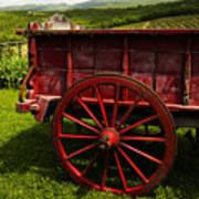 Vintage Red Wagon 2 Art Print