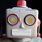 Vintage Robot 1 Dt Art Print
