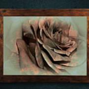 Vintage Rose On Old Wall 2 By Kaye Menner Art Print